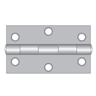 Steel Butt Hinges - Fixed Pin