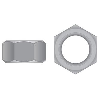 Imperial Hex Full Nuts Zinc