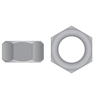Hex Full Nuts T316 SS Metric